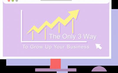 Hanya Ada 3 Cara Mengembangkan Bisnis